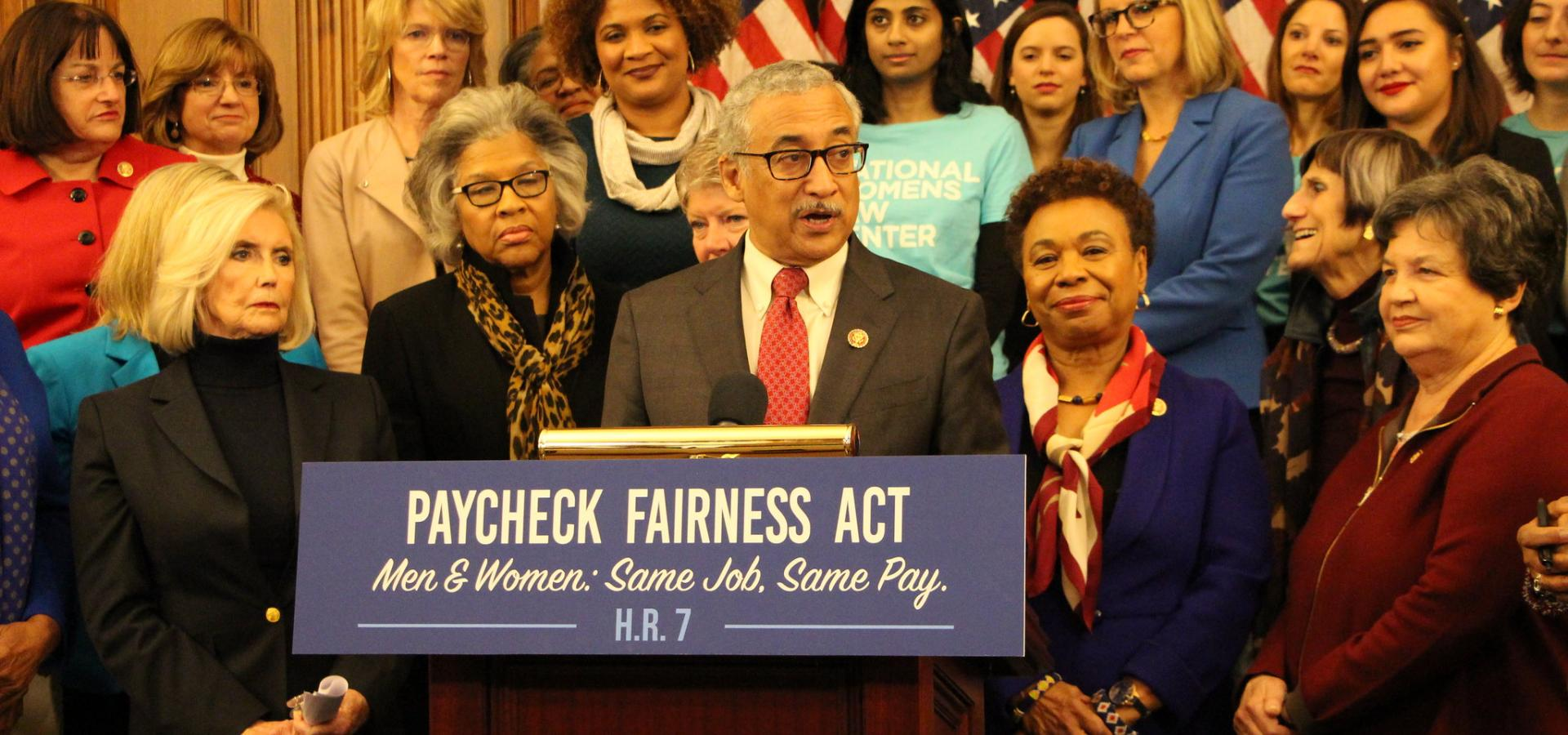 Scott at Paycheck Fairness Act Press Conference
