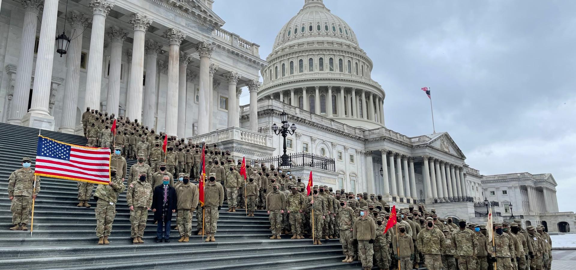 Rep. Scott with the Virginia National Guard at the US Capitol